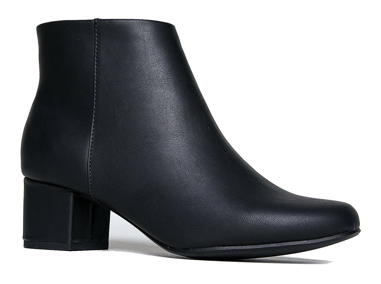 954ee72bd088 Get Quotations · J. Adams Low Heel Ankle Boot - Casual Zip Up Bootie -  Comfortable Everyday Round