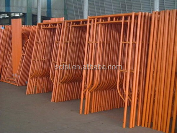 Steel Construction H Frame Scaffolding ladder Frame Parts