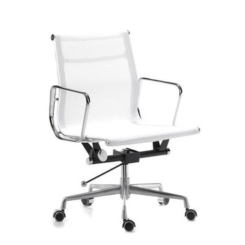 Whole White Aluminum Office Desk Chair  Mesh Table Commercial  Commercial Chairs P55