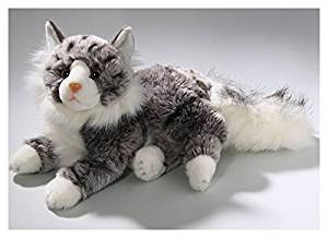 Stuffed Animal Cat, Maine Coon, 12 inches, 30cm, Plush Toy, Soft Toy