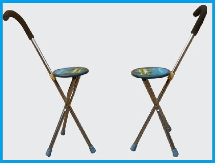 Folding Cane Chair Walking Stick With Stool Buy Cane