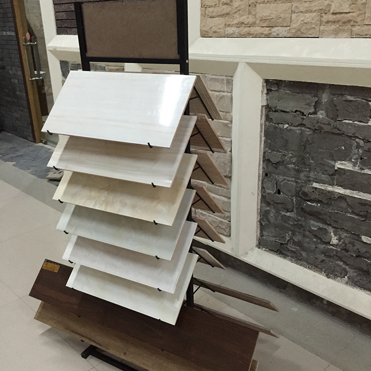 Ceramic tiles display racks with tv rack stand