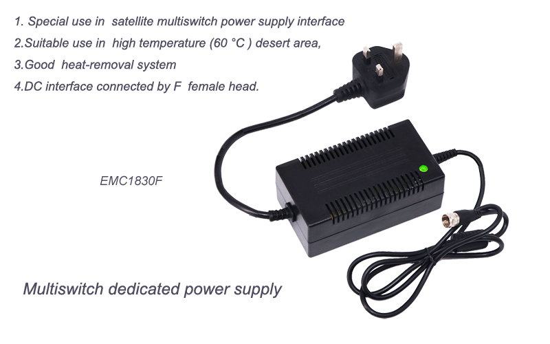 AC DC power supply  Multiswitch dedicated 18V 3A   Desktop  adapter
