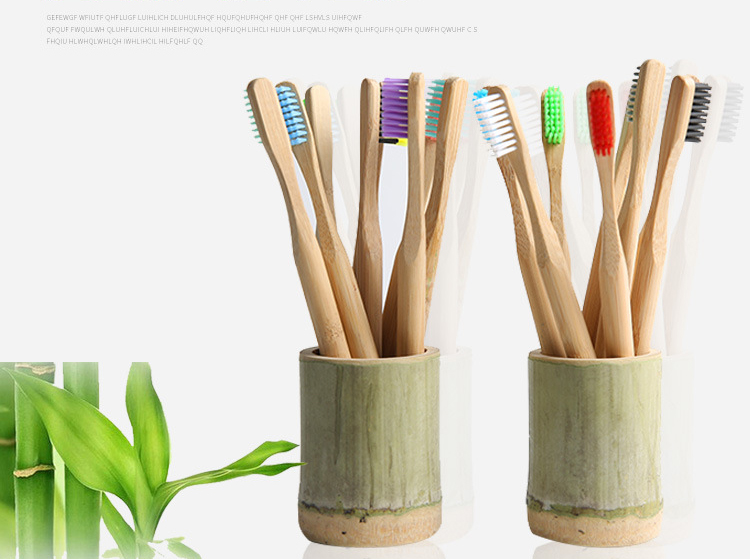 Wholesale Eco-Friendly Wood Soft BPA Free Bristles Natural Organic Bamboo Toothbrush