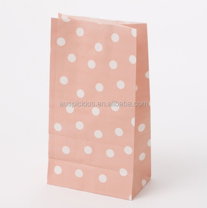 Christmas white polka dot bag stripe paper bag for sweetie buffet