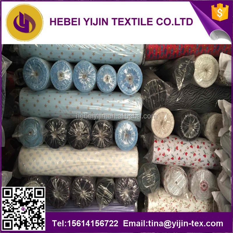cheap reactive printed 100% cotton brushed flannel fabric stocklot in china