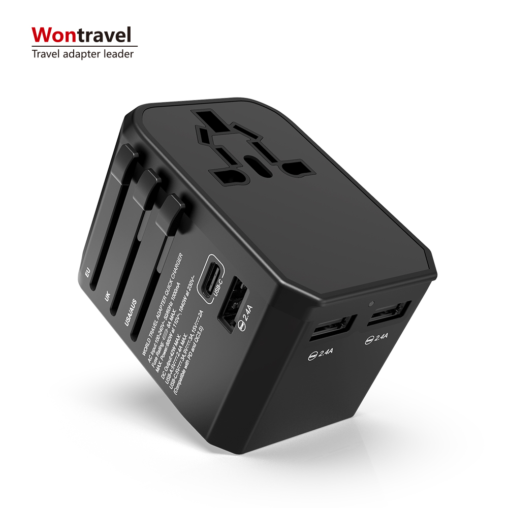 Universal Travel Adapter Quick Charger Mobiele Telefoon Met QC 3.0 USB Type-C PD Fast Charger Poorten