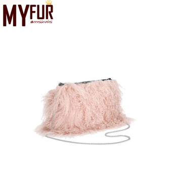 7015a8af35d9 Leather Bag Women s Bag Mongolian Lamb Fur Bag - Buy Mongolian ...