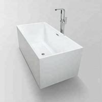 Modern Freestanding Rectangle Soaker Acrylic Bathtub