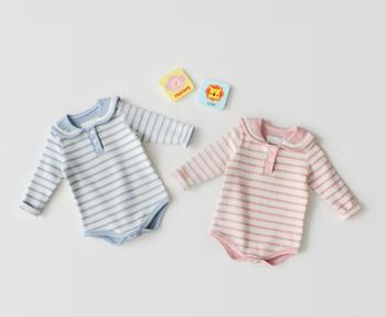 4cd597583 S33088w Baby Rompers Cute Striped Baby Boys Girls Clothes New Born ...