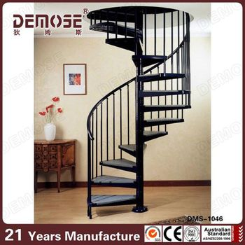 Beau Used House Steel Spiral Staircase With Glass Treads
