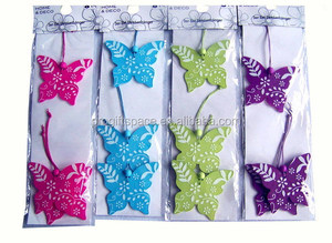eco friendly new products promotional gift wholesale ornaments felt artificial fabric hanging butterfly on alibaba express
