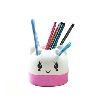 New Arrival Design Cartoon Lovely Plastic Custom Pen Pencil Holder  Wholesale Office Cute Kids Bulk Pen
