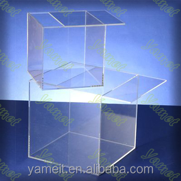2016 new design custtomized acrylic lucky draw box