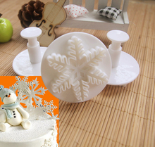 Pomocník při pečení – vánoční dekorativní vločka, 3 ks/bal