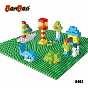 BanBao 8492 48x48 Docts 4Colors Big Baseplates Base for Small Bulk Legos Bricks Educational Plastic Building Block Toys