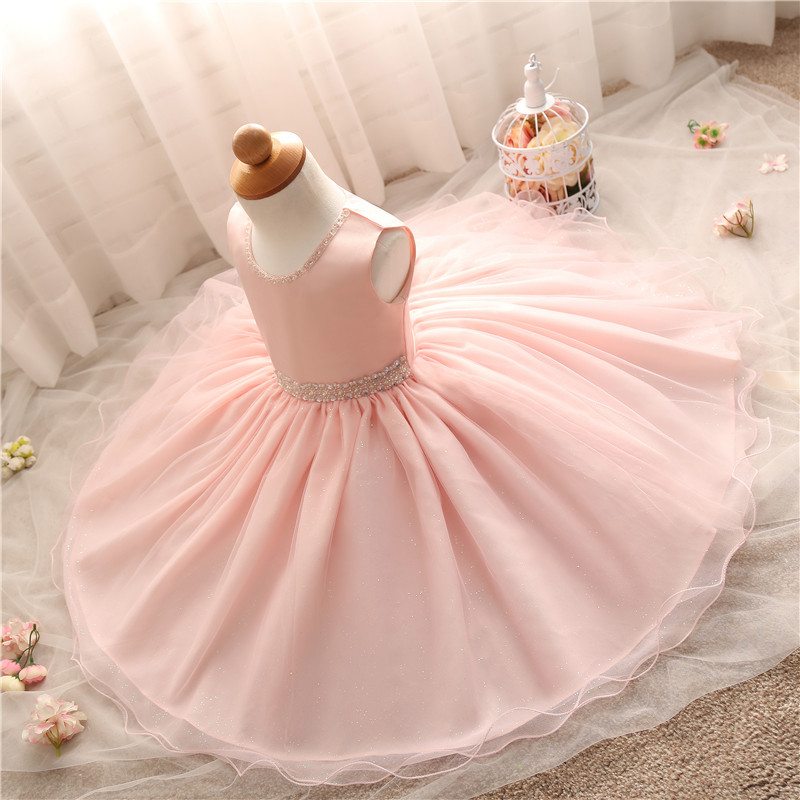 2793d8beee8f5 Infant Toddler Girls Dress s Christening Gowns Pink Party Vestidos Wedding  Dresses For Baby Girls Clothes Formal Events Wear
