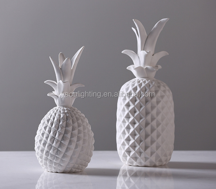Wholesale creative aesthetic pineapple ceramic home decoration