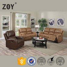 Luxuriously Supple Simple Living Room Sofa Set Bonded Leather/Fabric Sofa Furniture ZOY R9918A