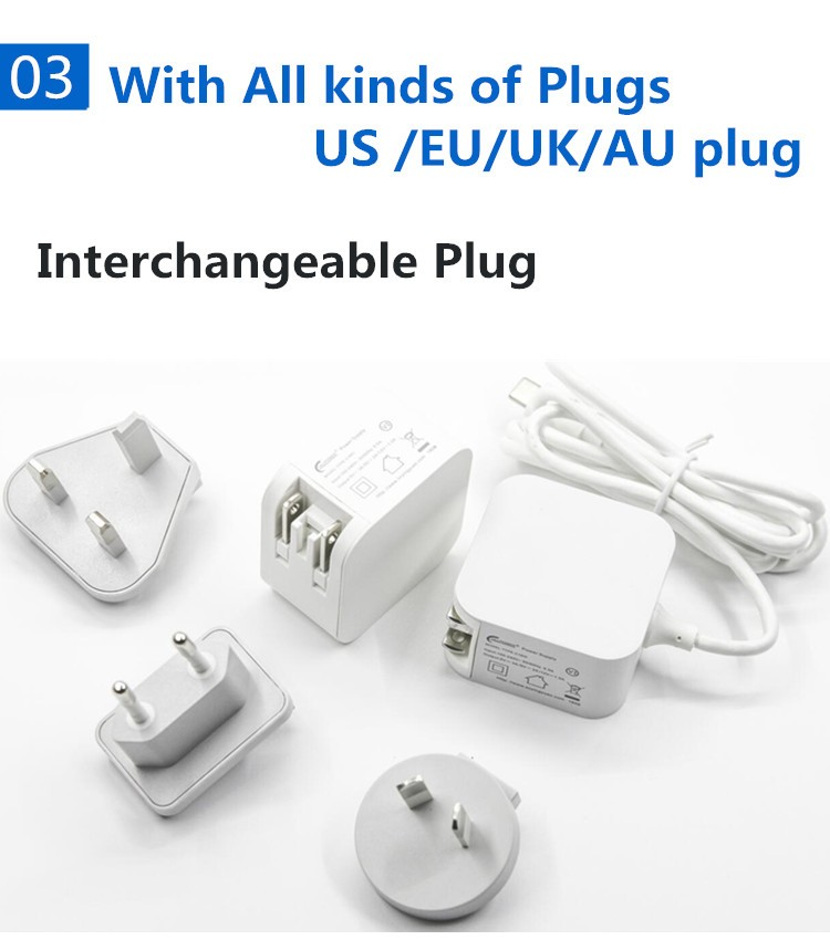 High Quality CE Approved USB Type-C Terminal UK Mains Wall Mobile Phone Charger