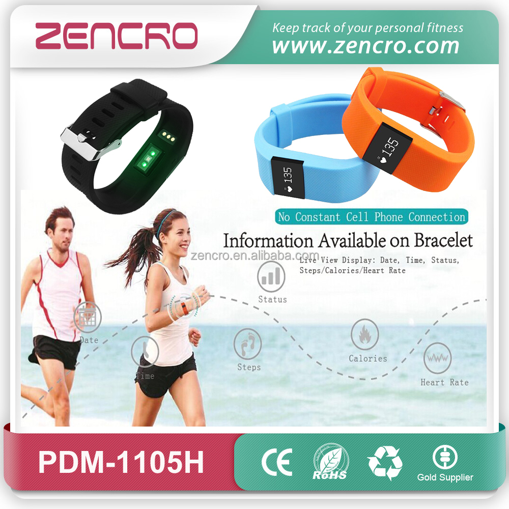 Zencro Supply Like Fitbit Bluetooth 4.0 Smart Bracelet Heart Rate Monitor TW64