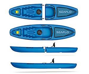SEAFLO Solo 2-Piece Modular Kayak 1-Person Sit-On-Top Model SF-3001S -Blue
