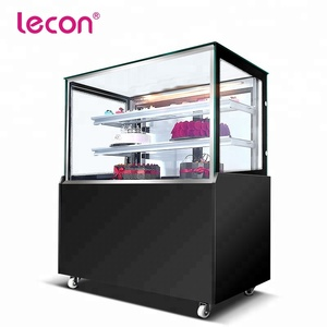 Lecon Commercial Fozen Food Counter Display Freezer for Supermarket