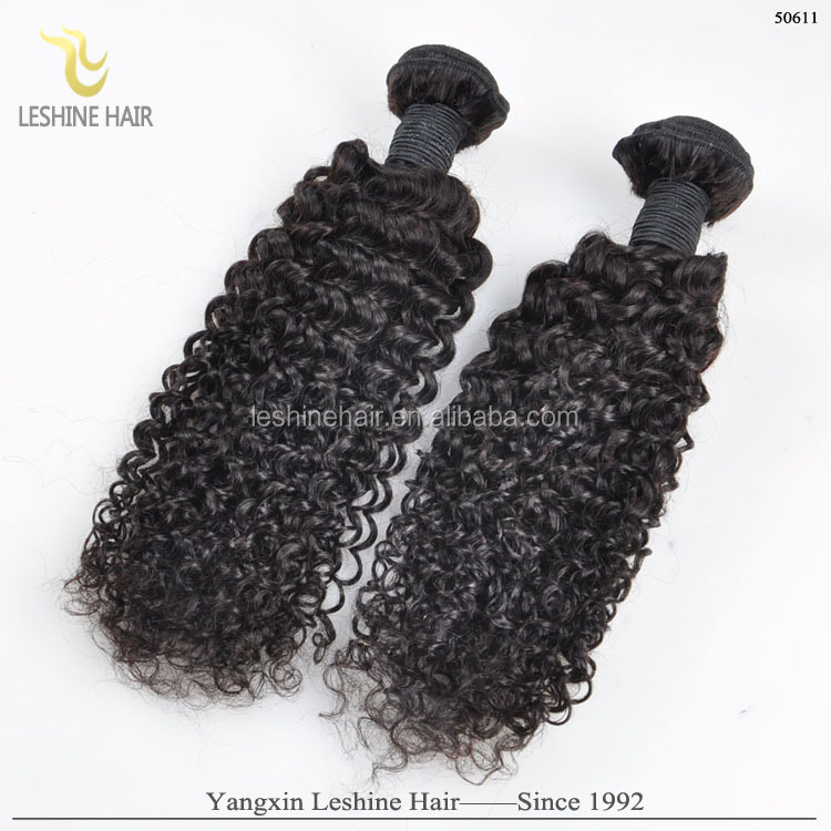 Wholesale Best Quality Unprocessed Virgin Jerry Curl Weave Extensions Human Hair