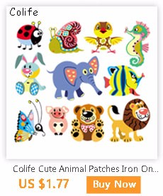 870957b5c2a Colife Cartoon Patches Iron On Patches For Children s T-shirt ...