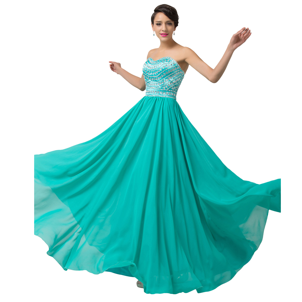 Buy Grace Karin Elegant Light Sea Green Strapless Elbise Bandage ...