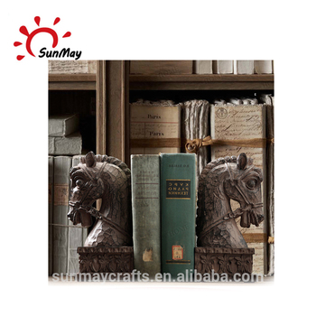 Wholesale custom high quality resin horse head bookends decoration for sale