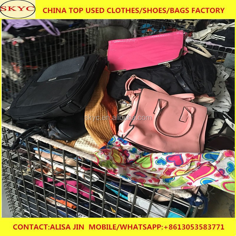 women used bags in bales summer jean used bags in used clothes container
