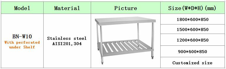 Dapur Anti Karat Worktable Work Bench Meja Kerja
