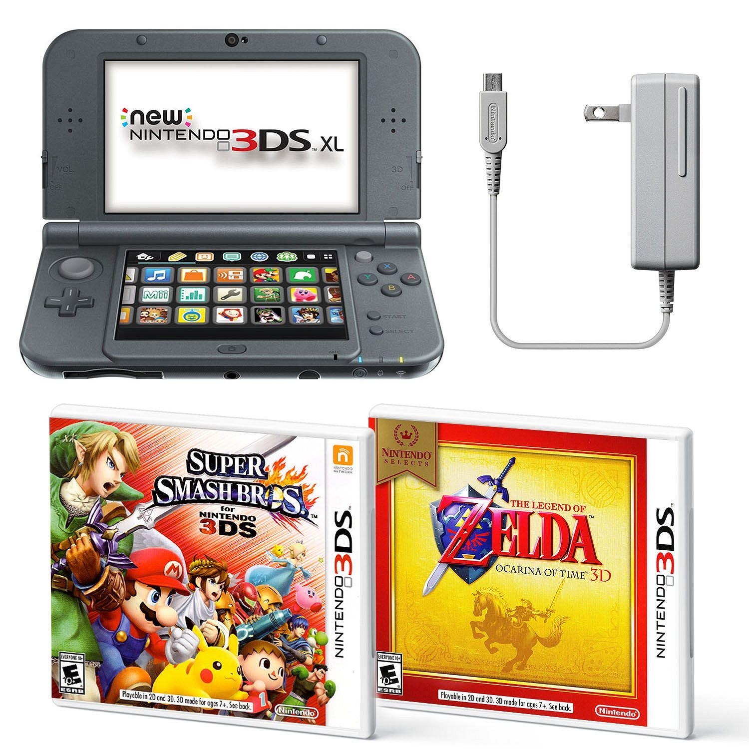 Cheap Good Nintendo 3ds Games Find Deals On New 3 Ds Xl Metallic Black Get Quotations Bundle Ac Adapter And Two Full 3d Mode