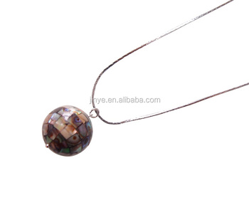 Fashion Bohemian Simple Designs Paua Abalone Shell Necklace