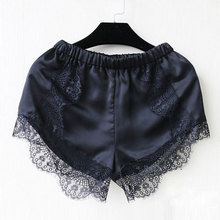 Summer New Hot 2016 Fashion Black/White Free Size Women Girl Elastic Casual Shorts High Waist Lace Shorts Croth Fitness