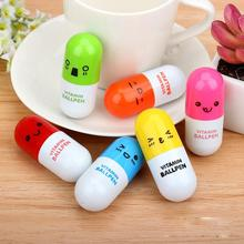 5pcs Retractable Smile Face Expression Vitamin Pill Capsule Writing Ballpoint Ball Point Pen School Student Stationary Supplies