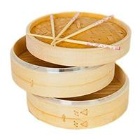 High quality mini dim sum commercial seafood dumpling bamboo steamer basket