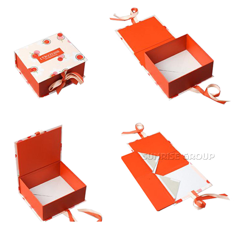 Luxury Elegant Paper Printing Fold Magnetic Closure Box