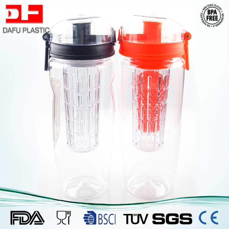 1000ml fruit infuser water <strong>bottle</strong> bpa free with slip lid clear plastic drinking water <strong>bottle</strong> wholesale