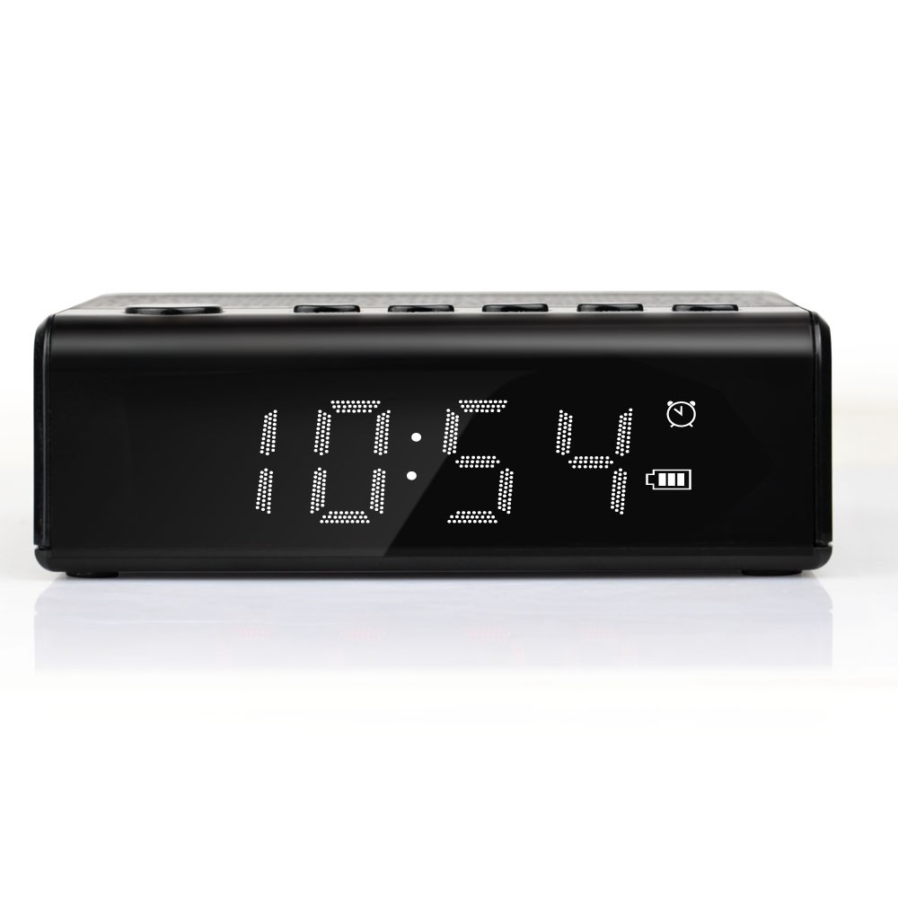 Mobile accessories hot selling wireless stereo speakers radio alarm clock bluetooth portable mini music speaker