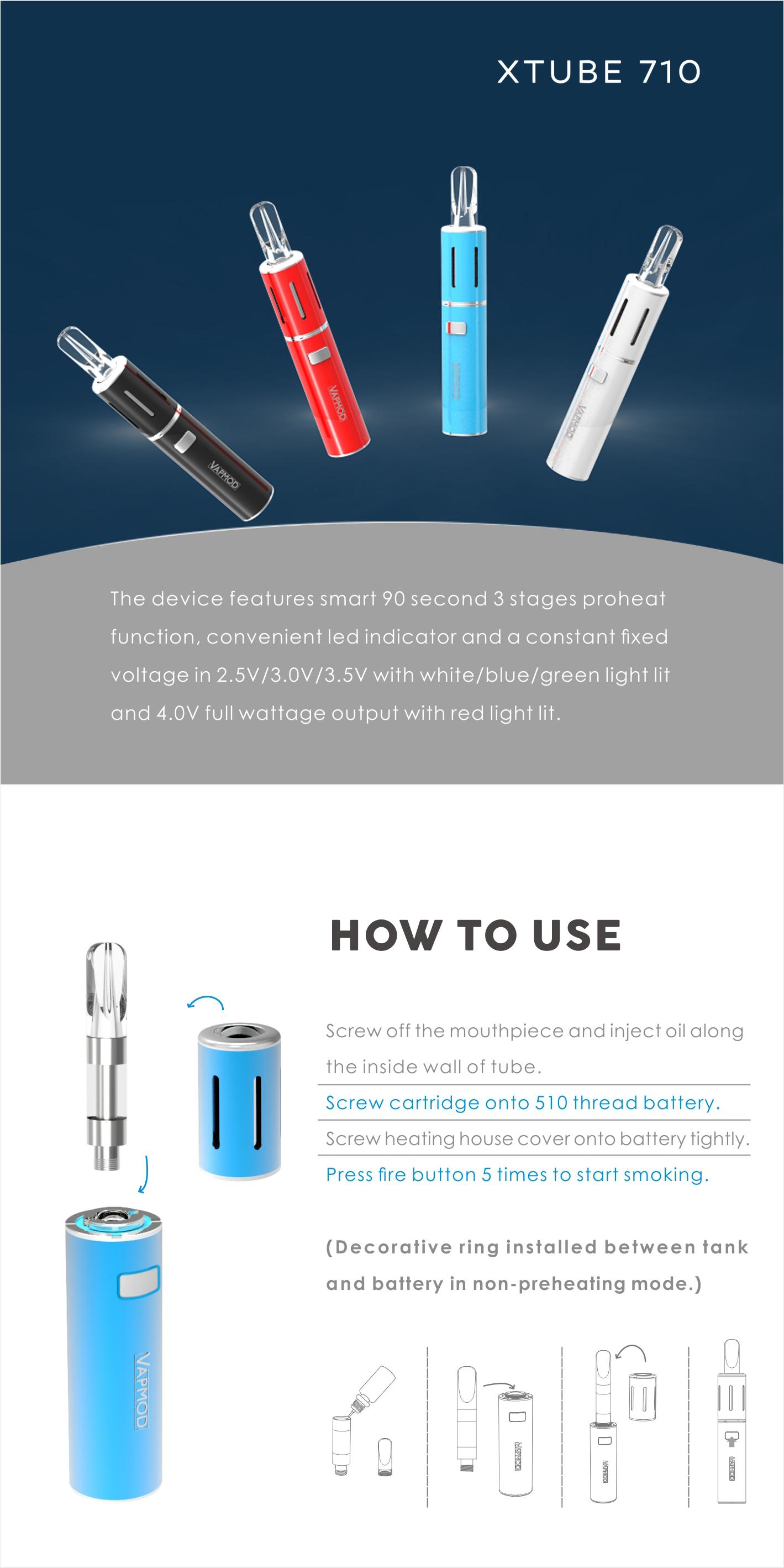 New product cbd cartridge Xtube 710 cbd vape pen with usb charging, View  cbd vape pen, Vapmod Product Details from Shenzhen SunZip E S  Technology