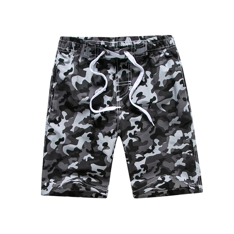 2dc960a5e3cca Get Quotations · Kute 'n' Koo Big Boy's Swim Shorts, Quick Dry Camo Swim  Trunks Boys