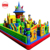 Giant inflatable trampoline,inflatable paradise for children,cheap blue cat inflatable castle factory prices