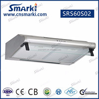Asian market 60cm width stainless steel white/black painted slim Kitchen Range Hood SRS60S02