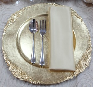 PZ21080 High Quality Stainless Steel Dinner Plate Dishes For restaurant wedding events