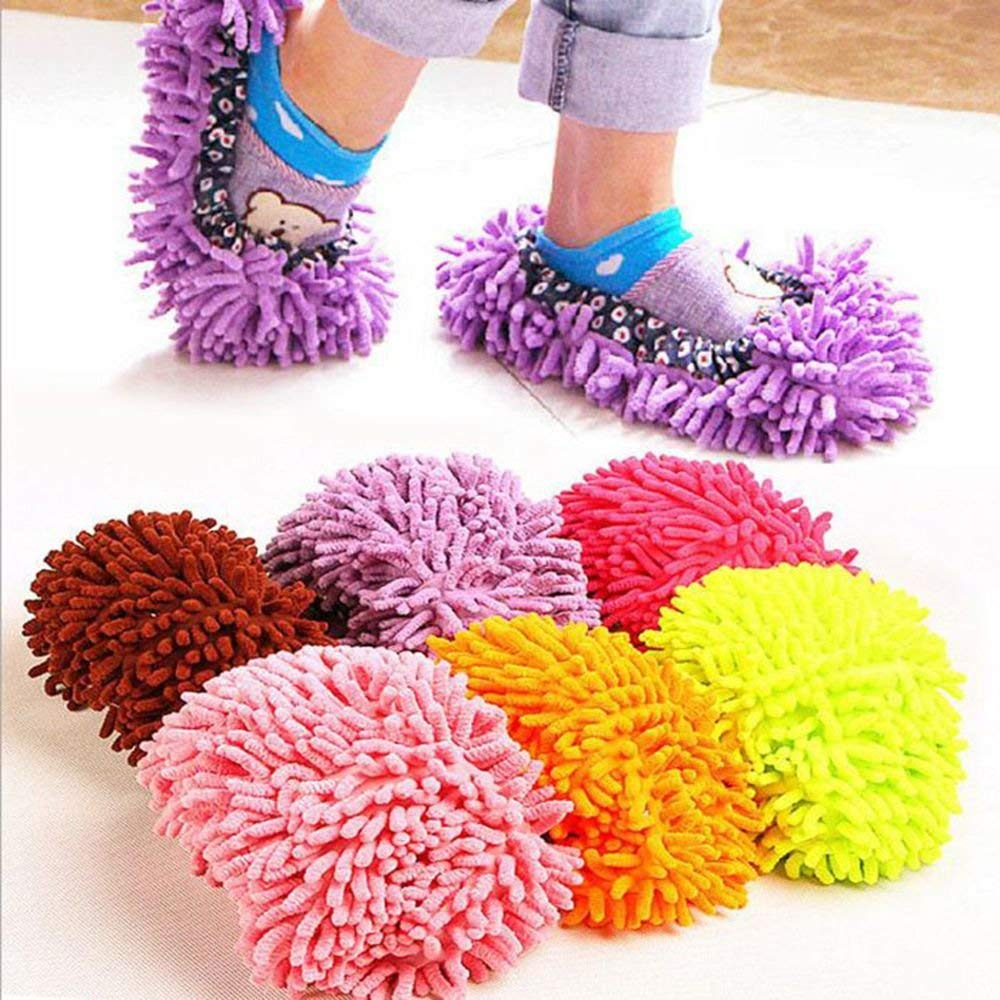 6af8979bcf6 Floor Cleaning - 2 Dust Cleaner Grazing Slipper House Bathroom Floor  Cleaning Mop Lazy Cover Microfiber Hot Selling - Wipe - 1PCs