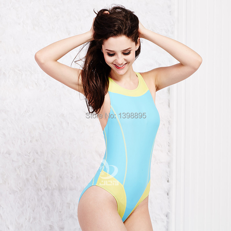ba7a6ed31aab7 Get Quotations · JOB 2015 professional sports swimsuit womens one piece  swim suit chlorine resistant triathlon suit arena swimming