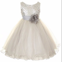 2015 Autumn Korean-style Fashion Flower Girls Dresses For 7 Year Olds