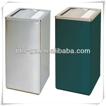 Square Shape Stainless Steel Garbage Can/ Commercial Metal Trash Can ...